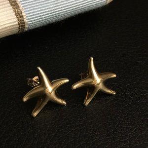 Tiffany's gold earrings